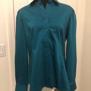 New York & Co green blouse sz XL